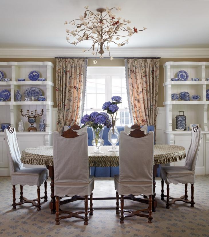 floral chandelier idea