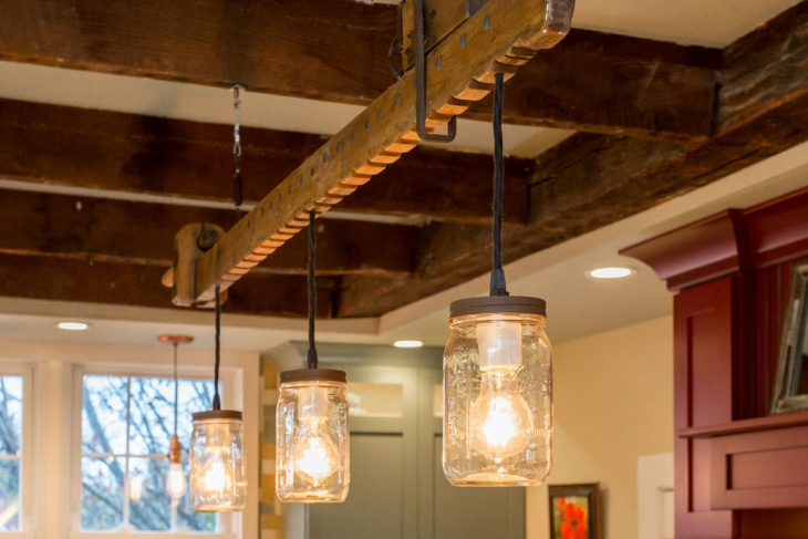 ball jar chandelier design