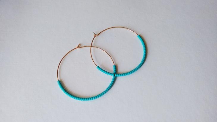 Blue Beaded Hoops Idea