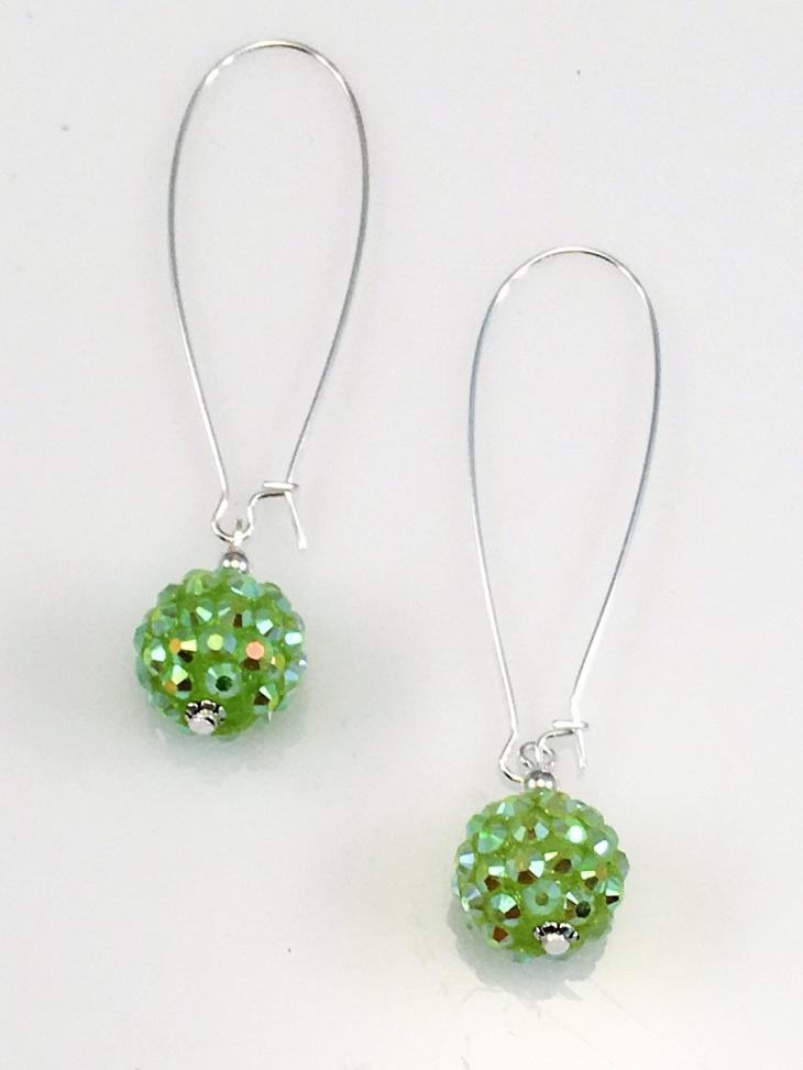 Pave Beaded Earrings Design