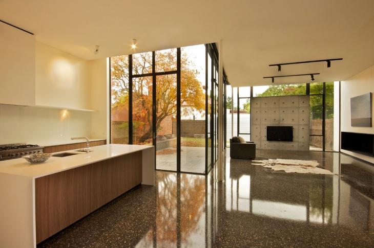 interior concrete floor idea