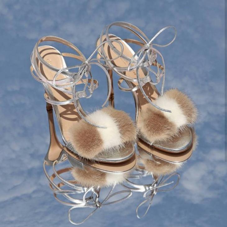designer pom pom sandals