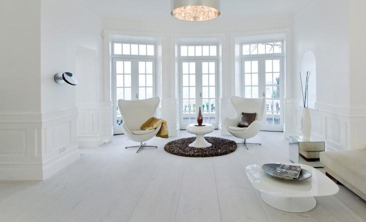 white wood flooring idea