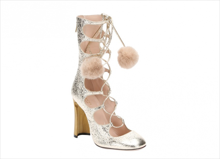 guccis pom pom heels