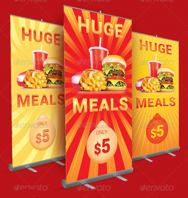 outdoor restaurant banner design