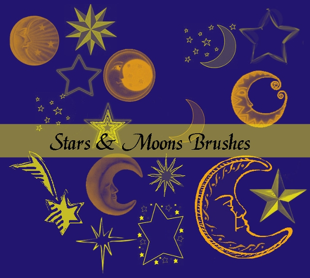 moon and stars photoshop brushes