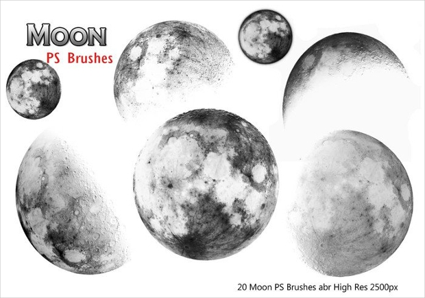 high quality moon ps brushes