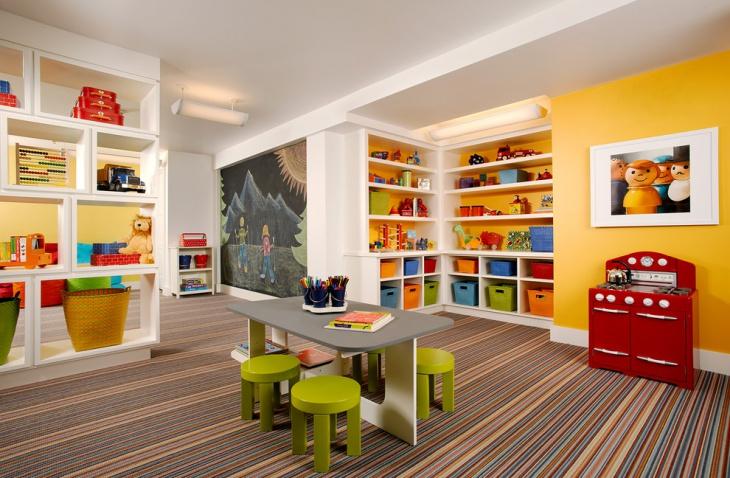 playroom storage furniture design