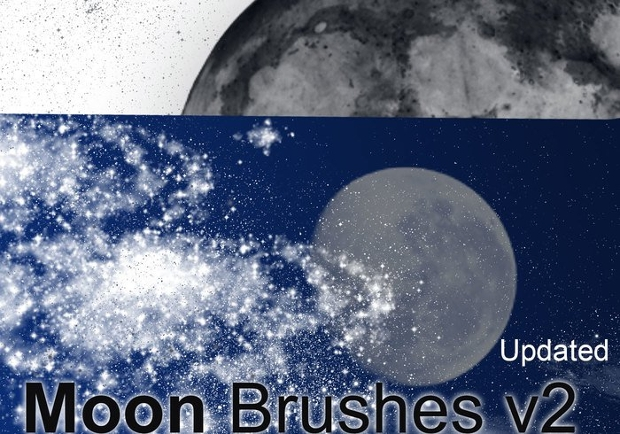 Celestial Moon Photoshop brushes