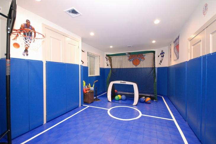 blue interior childerns playroom