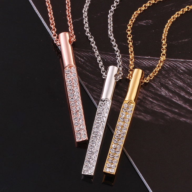 Long Cylinder Pendant Chain