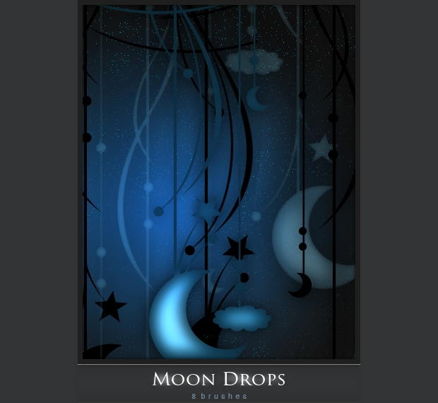 Hanging Moon Brushes