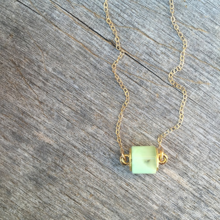 small cylinder pendant chain