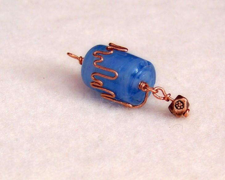 Wire Wrapped Cylinder Pendant