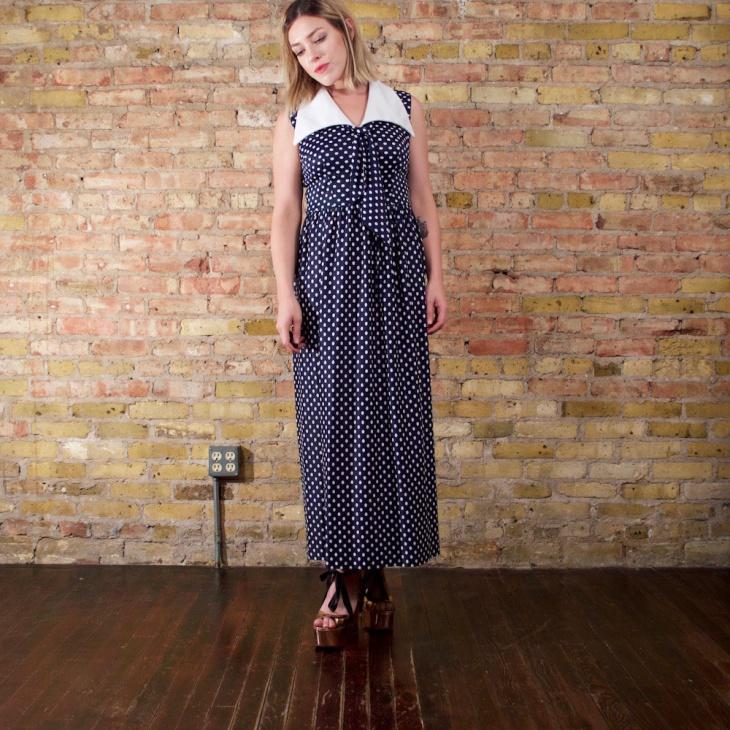 women maxi nautical dress