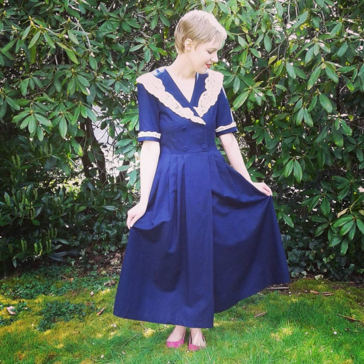 navy blue nautical dress