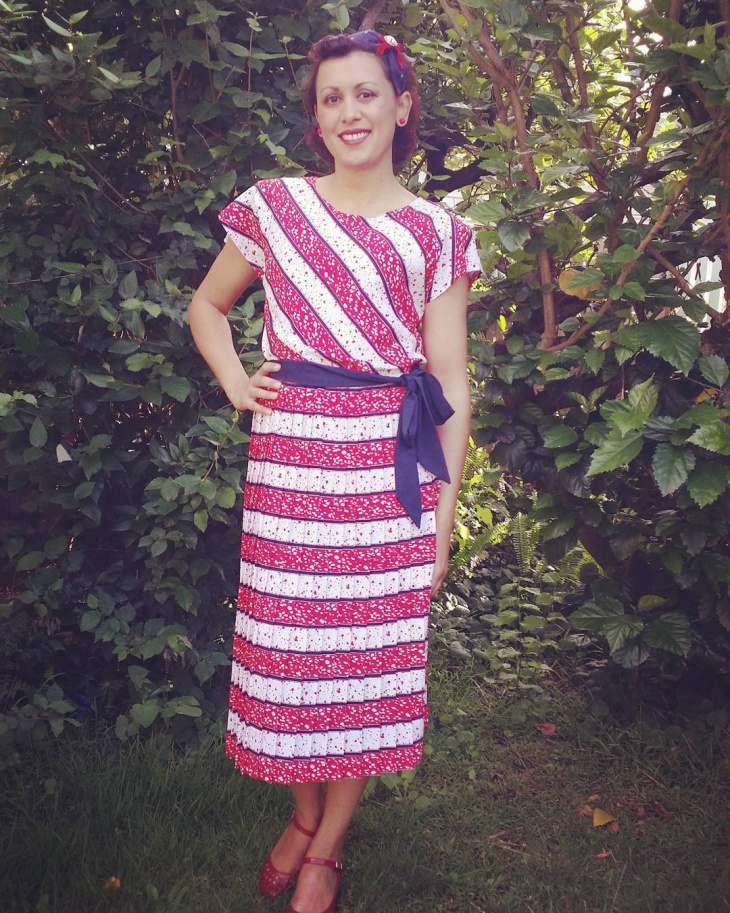 mid century nautical dress
