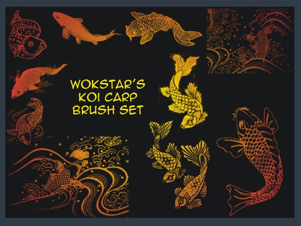 koi fish brushes set