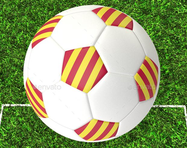 3d soccer ball texture