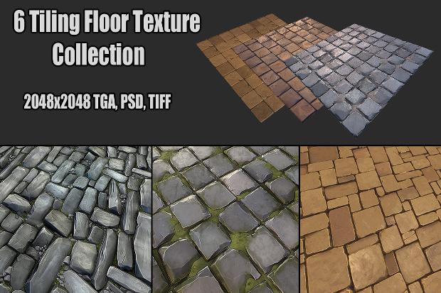 3d tile floor texture