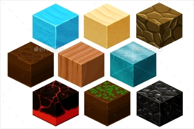 3D Isometric Cubes Texture