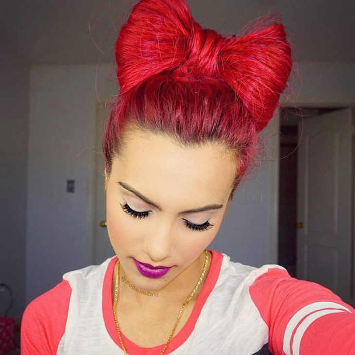 bow hair styles 21 bow bun hairstyle ideas designs design trends 3520