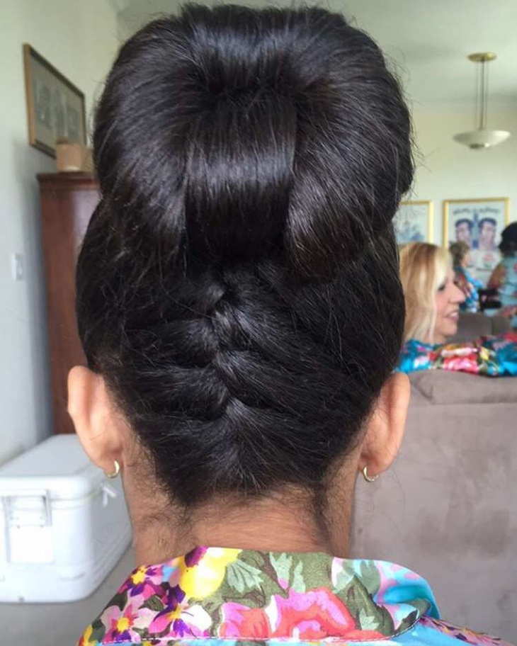 beautiful bow bun with braids