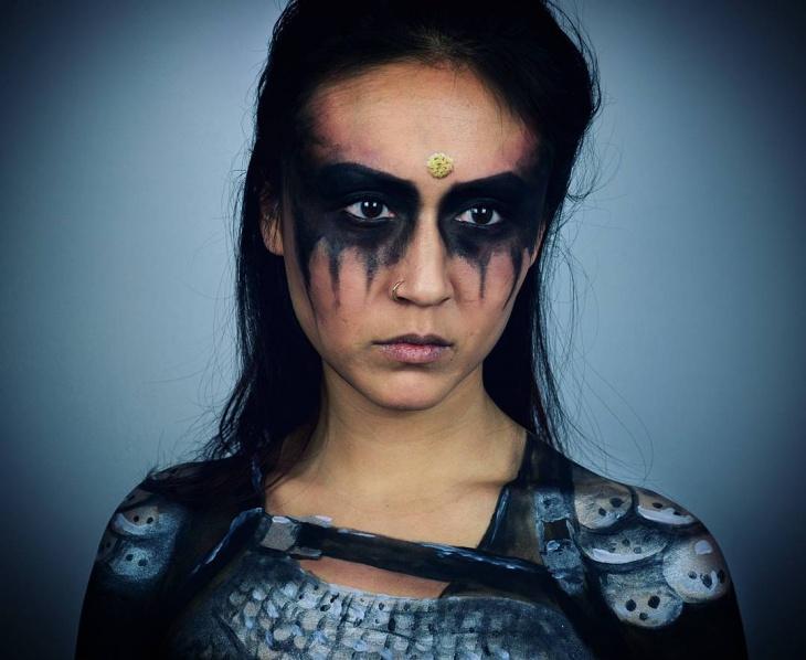 Goth Ninja Makeup Design