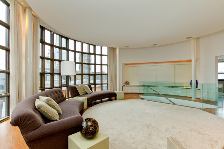 Living Room Glass Wall Partition