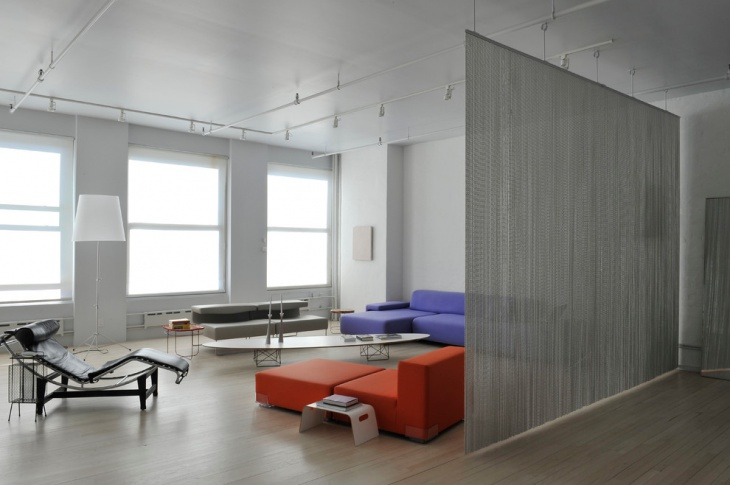 Modern LIving Room Partition Idea