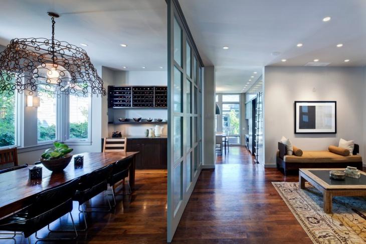 living room glass partition divider