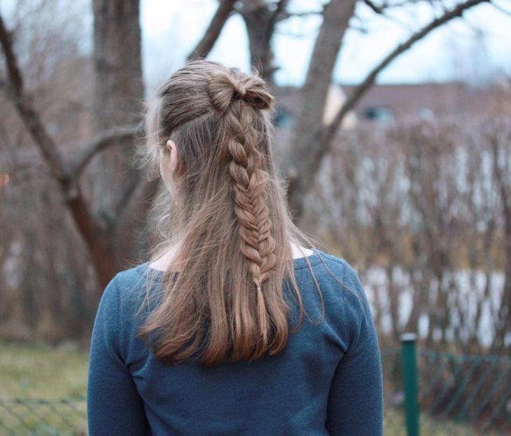 bow braid hairstyle design