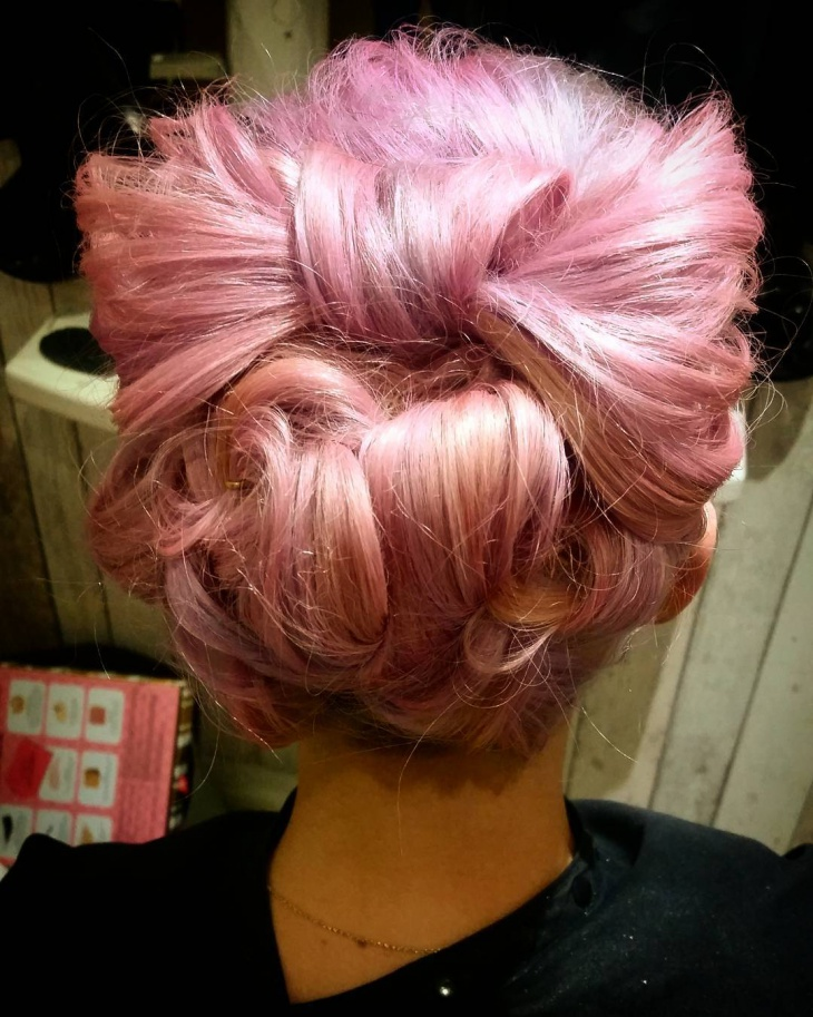low bun with bow hairstyle