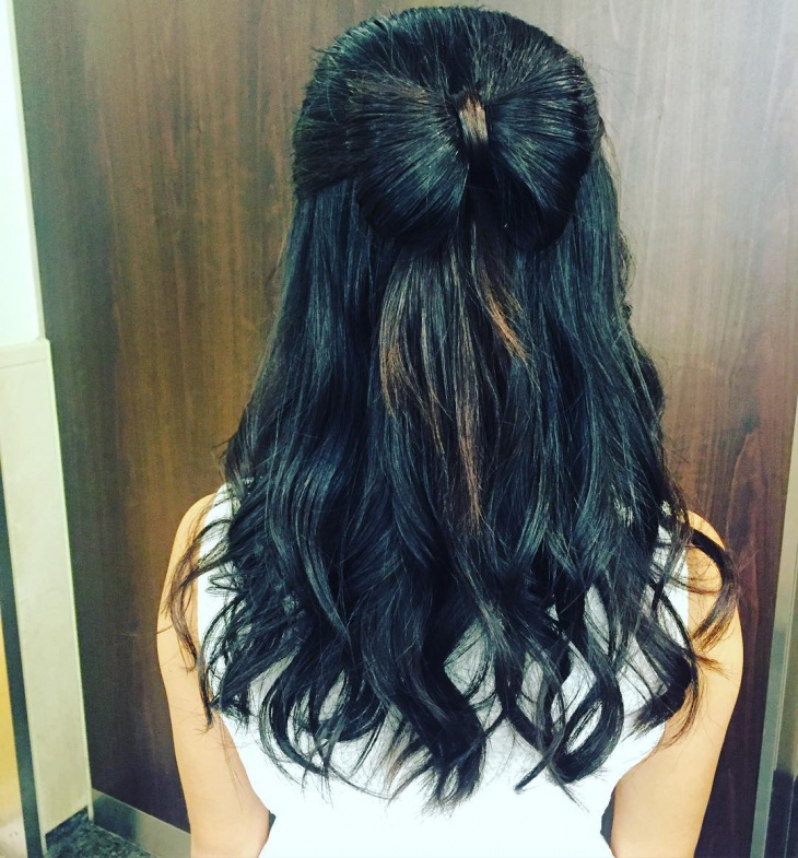flow bow hairstyle