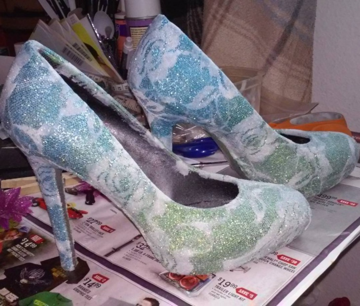 beautiful diy shoes design
