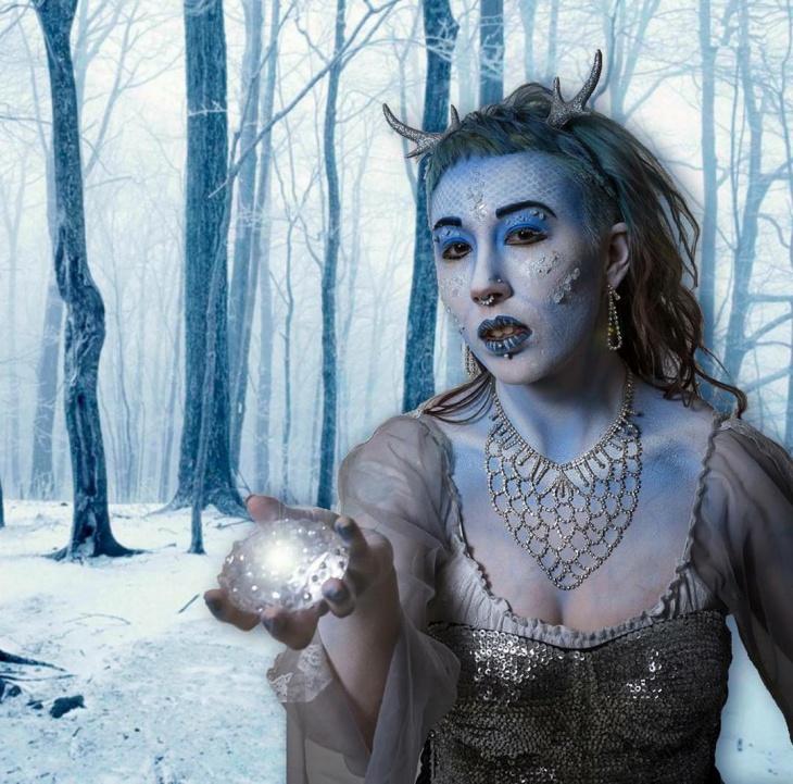 Snowflake Queen Makeup