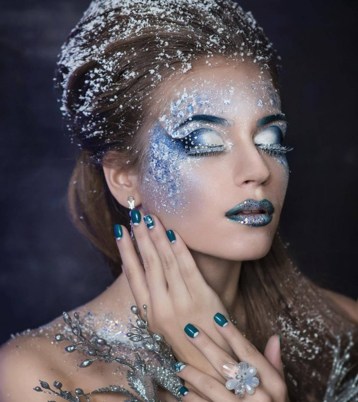 16+ Snowflake Makeup Designs, Trends, Ideas | Design Trends ...