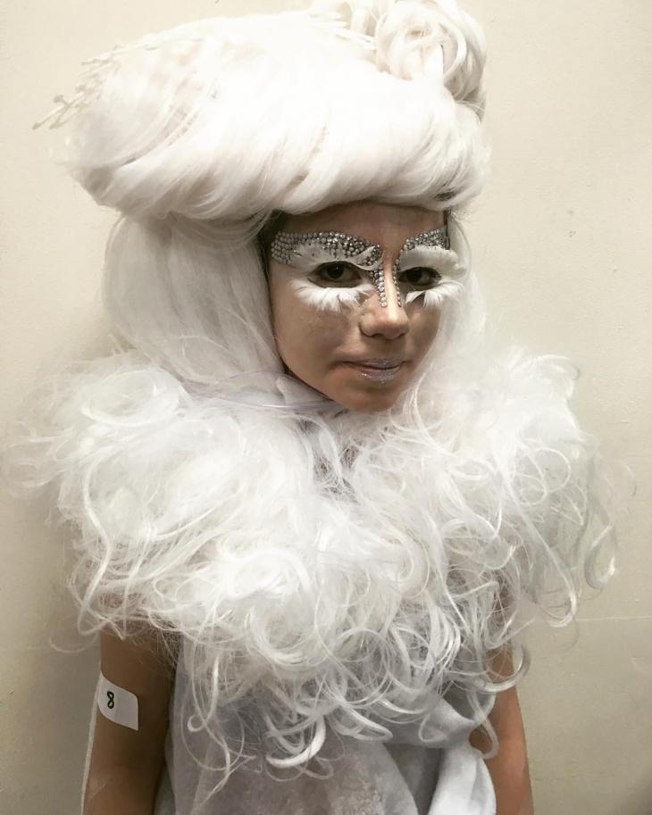 White Snowflake Makeup