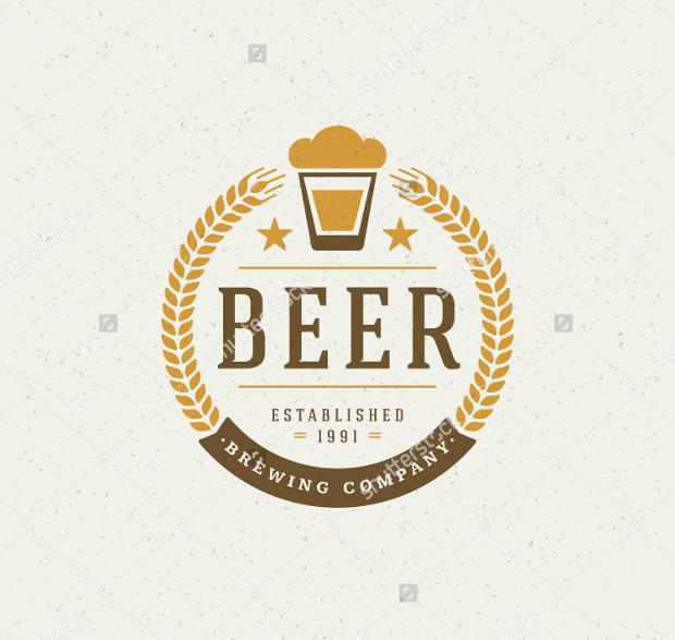 vintage style beer logo