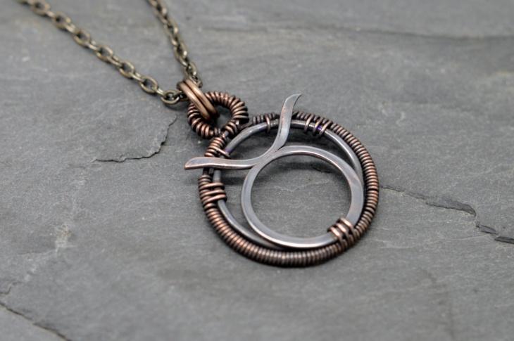 wire zodiac jewelry