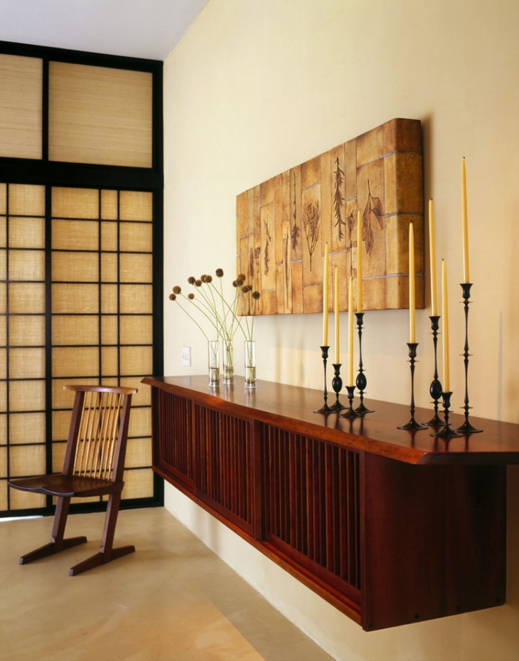 narrow entry table decor
