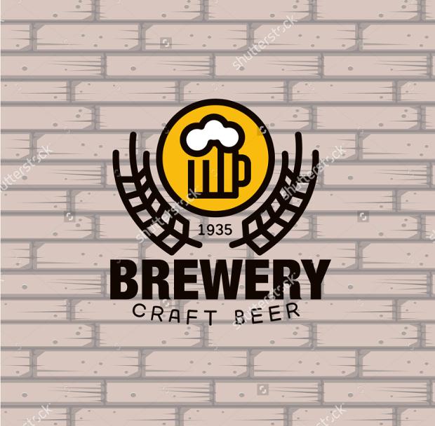 simple brewery logo design