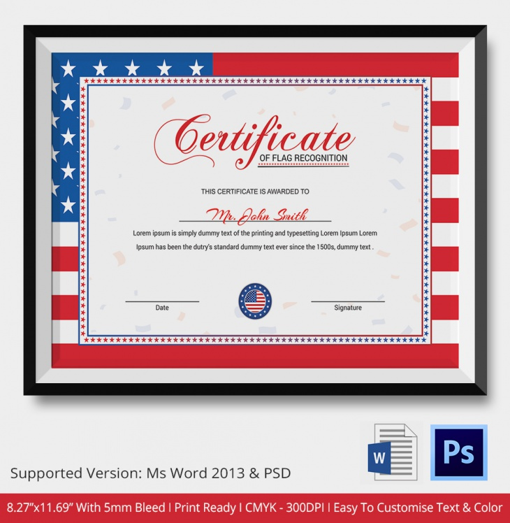 photo about Free Printable Veterans Certificate of Appreciation referred to as Certification of Attractiveness - PSD Phrase Programs Structure