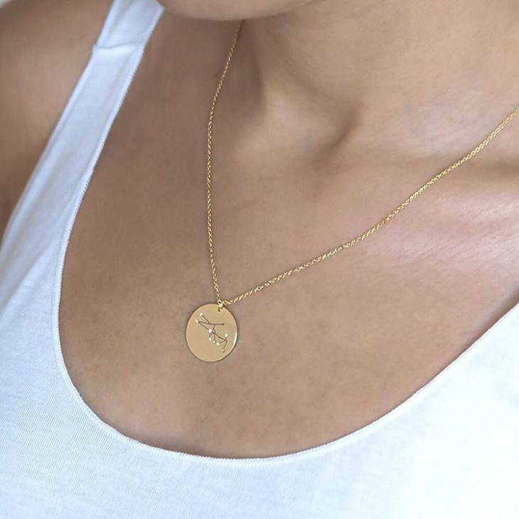 taurus zodiac necklace idea