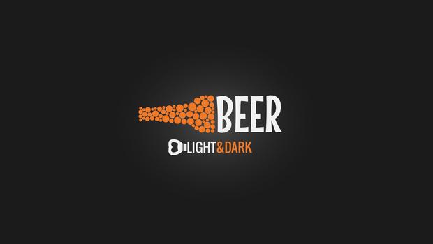 stunning beer bottle logo design
