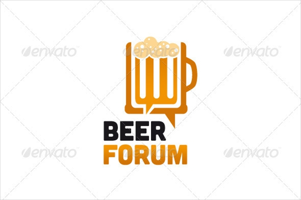 beer forum logo design