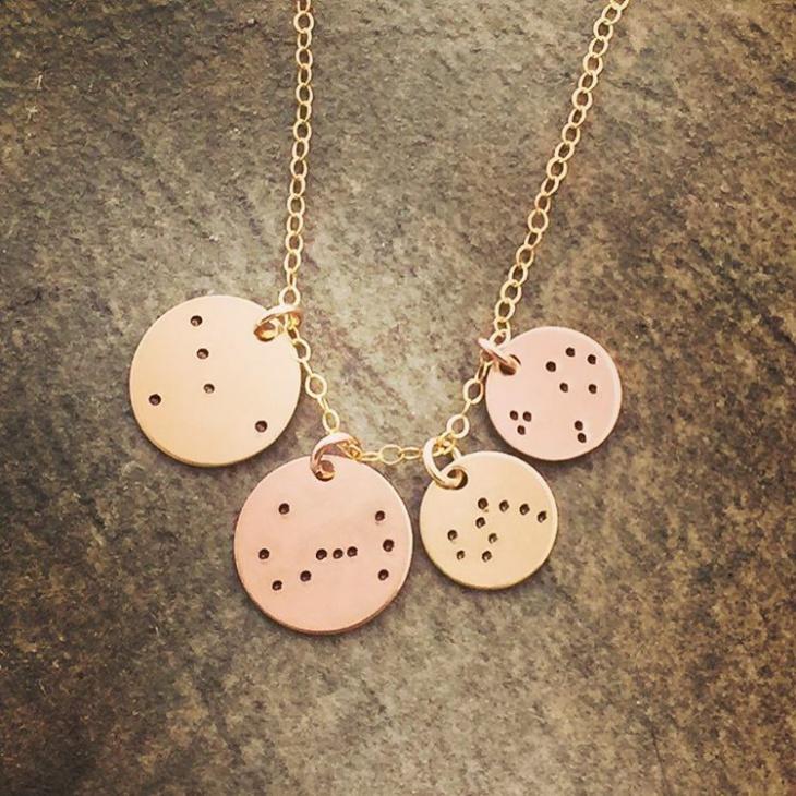 zodiac constellation necklace idea