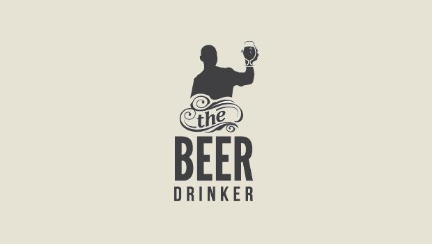 beer drinker logo design