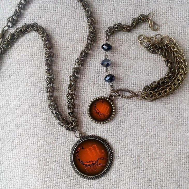 unique scorpio pendant necklace