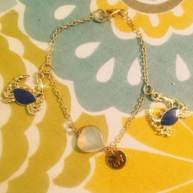 cancer sign gold bracelet idea